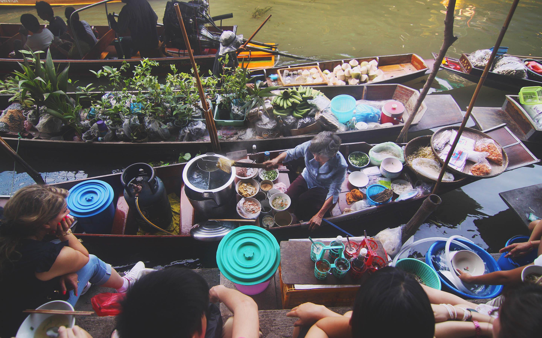떠 있는 시장, 메콩 강 델타