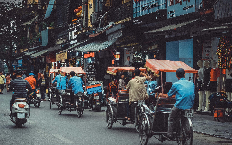 베트남의 사이클로 운전자